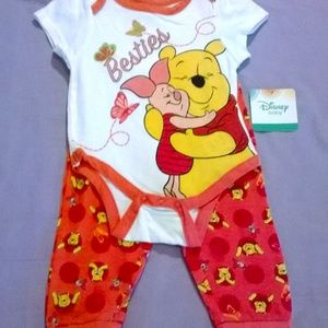 Baby Disney 2 Piece Winnie the Pooh Outfit 6-9M